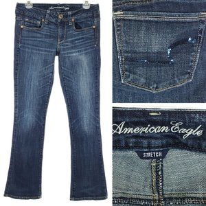 AMERICAN EAGLE Boot Cut Jeans Stretch Size 6 Short